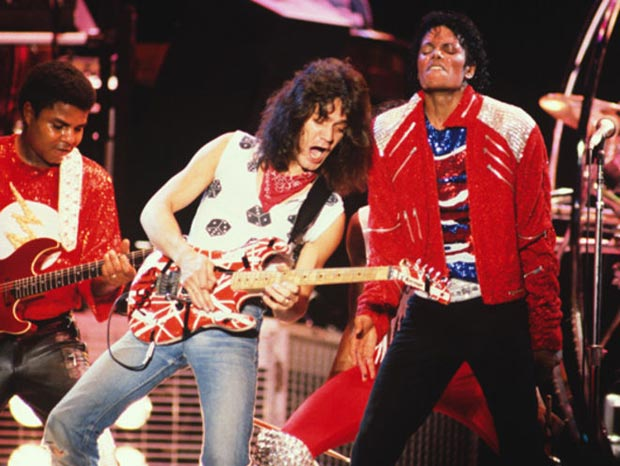 "Eddie Van Halen performing ""Beat It"" with The Jacksons"