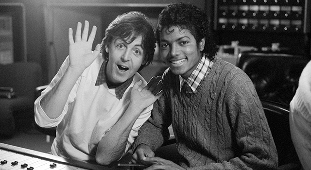 MJ & Macca in the studio
