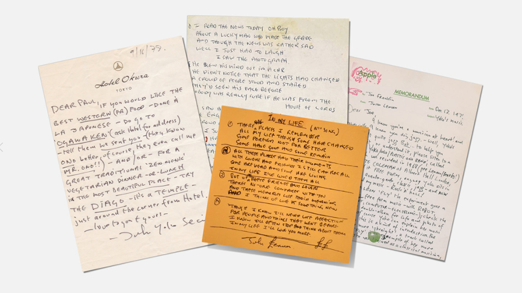 Famous Songwriters' Handwriting
